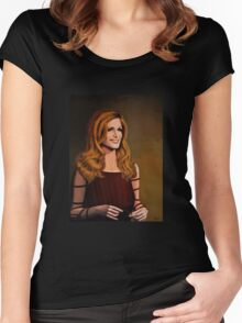 Dalida painting Women's Fitted Scoop T-Shirt