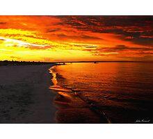 Sunset at Busselton Photographic Print