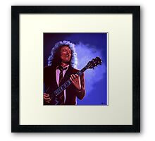 Angus Young of AC / DC painting Framed Print