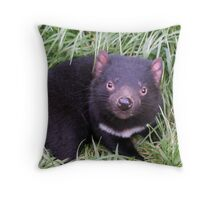 Devilishly Cute Throw Pillow