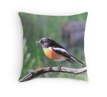 robins dinner Throw Pillow