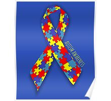 Autism Awareness Ribbon Poster