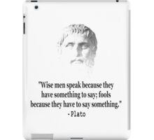 Quote By Plato iPad Case/Skin