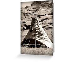 teepee Greeting Card
