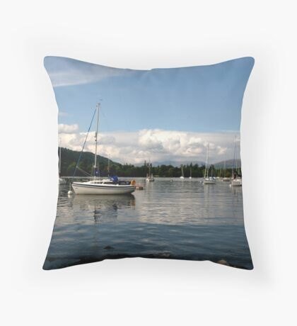 View From Hawkeshead Ferry Windermere Throw Pillow
