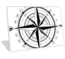 True North Compass Nautical Love Laptop Skin