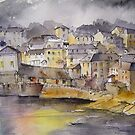 Port Isaac Evening by artbyrachel