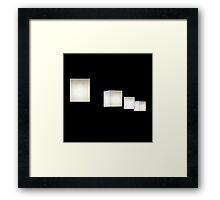 Cube lamps Framed Print