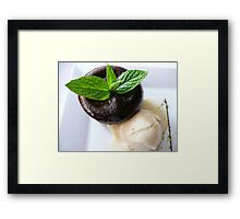 Juste-cuit (translate: just cooked) Framed Print