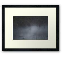 A Mallard duck, hidden in the mist of an early morning... Framed Print
