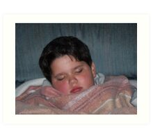 Sick Little Boy Sleeping Art Print