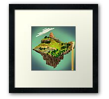 Cubed World Framed Print