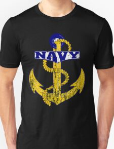 Vintage NAVY Anchor - Fathers Day Gift!  Unisex T-Shirt