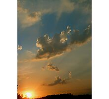 Sunset in Romanian Village Photographic Print
