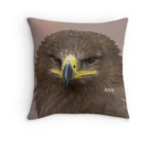 Russian Steppe Eagle Throw Pillow