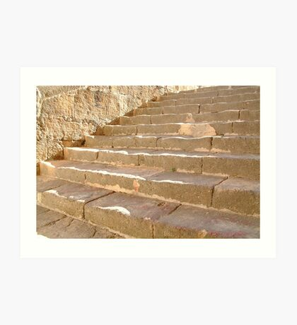 Church Steps Art Print
