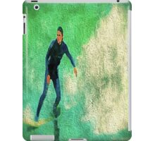 A Surfer Leads the Wave iPad Case/Skin