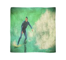 A Surfer Leads the Wave Scarf
