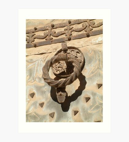 Church Door Knocker Art Print