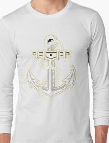 Vintage GOLD Anchor  Long Sleeve T-Shirt