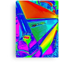 Vibrant World of the Chevy Bel Air Canvas Print