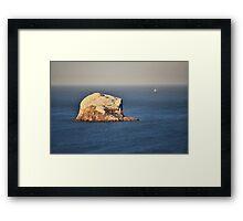 The Bass Rock Framed Print