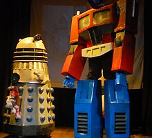 Dalek and Optimus Prime by TimChuma