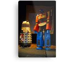 Dalek and Optimus Prime Metal Print