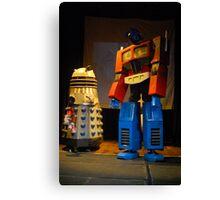 Dalek and Optimus Prime Canvas Print