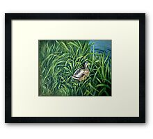 Ey up me duck Framed Print