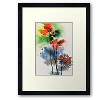 Trees in colors Framed Print