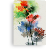 Trees in colors Canvas Print