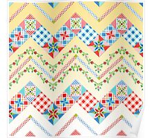Country Days Zig Zag Yellow Poster