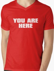 You are here Mens V-Neck T-Shirt