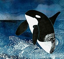 Killer Whale Orca by Janet Carlson