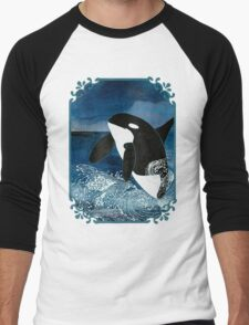 Killer Whale Orca Men's Baseball ¾ T-Shirt
