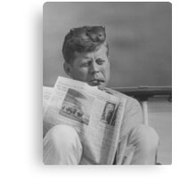 JFK Relaxing Outside Canvas Print