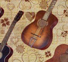 Guitar Love Tee Sticker