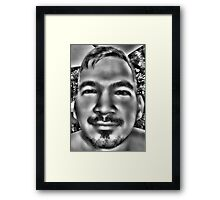 In a Childs Eyes Gray Framed Print