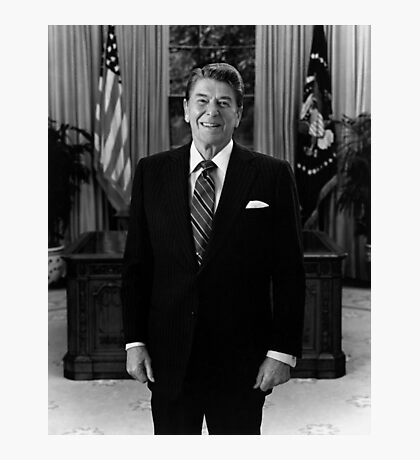 President Ronald Reagan In The Oval Office  Photographic Print