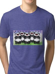 Panda singing choir Tri-blend T-Shirt
