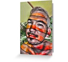 In a Childs Eyes Angle Stripes Greeting Card
