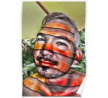 In a Childs Eyes Angle Stripes Poster