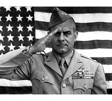General James Doolittle Saluting Photographic Print