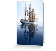 The Bark Europa and her Reflection Greeting Card