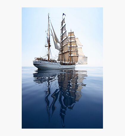 The Bark Europa and her Reflection Photographic Print