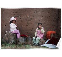 Incan Children Poster