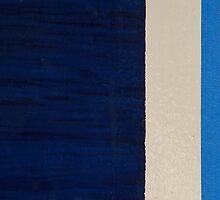 Abstract ~ The Thin Blue Line by Alixzandra