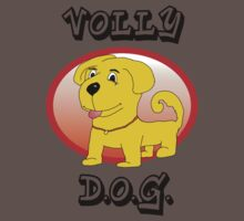 Cute Volly Dog T-Shirt by Marko Palm