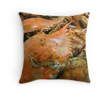 Feeling Crabby Throw Pillow